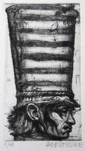 Mann mit großem Hut