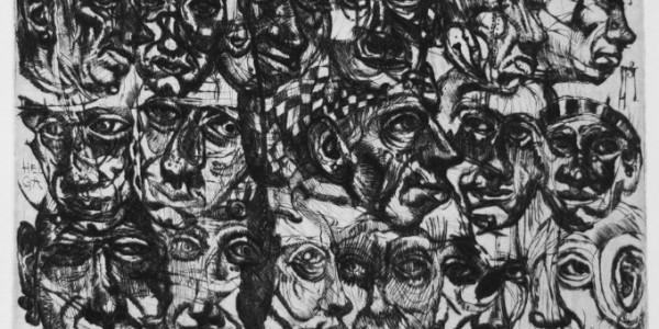 Skizzenblatt mit Köpfen