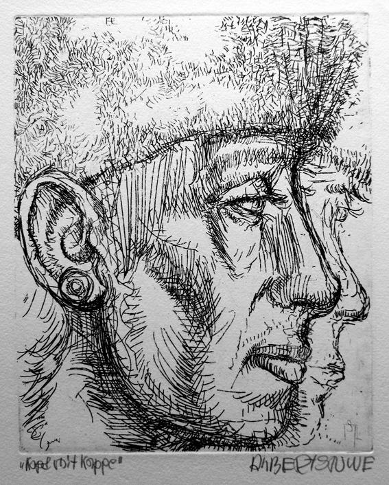 Kopf mit Kappe