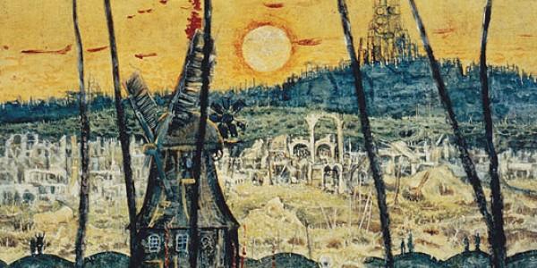 Landschaft mit Tod und Mühle
