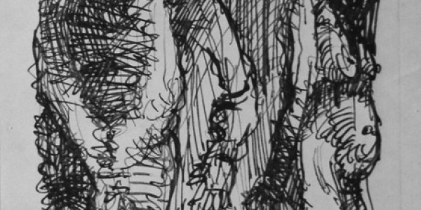 Skizzenblatt (vier Figuren)