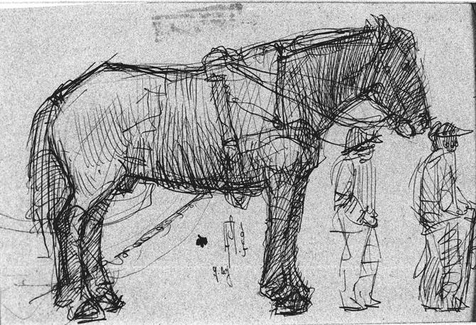 Skizze (Pferd)