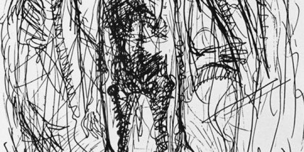 o.T. (Tod mit grotesken Figuren)