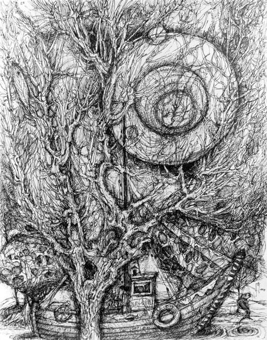 o.T. (Boot und Bäume)
