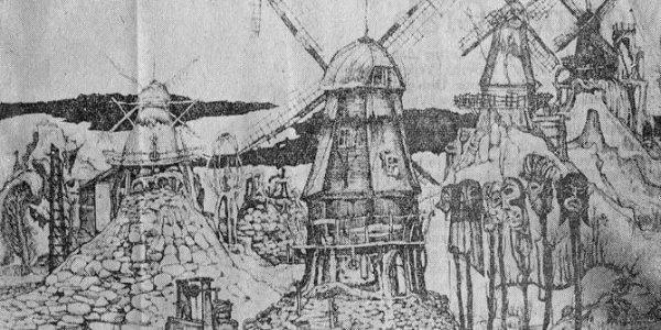 Windmühlen und Masken