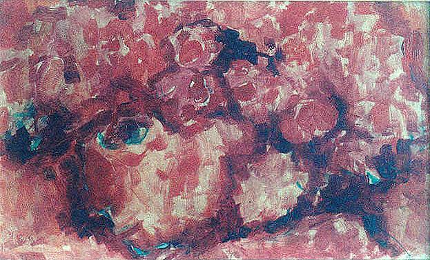 Kopf mit Blumenschmuck