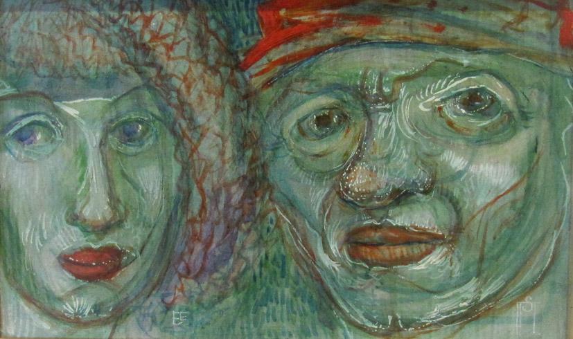 o.T. (grünes Paar)