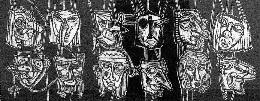 Zwölf Masken