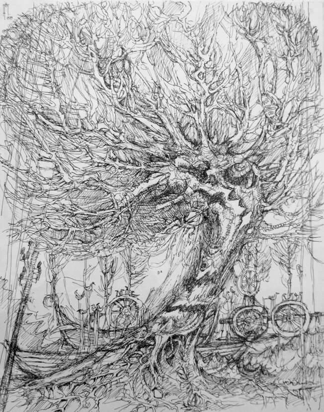 Baum mit zwei Booten